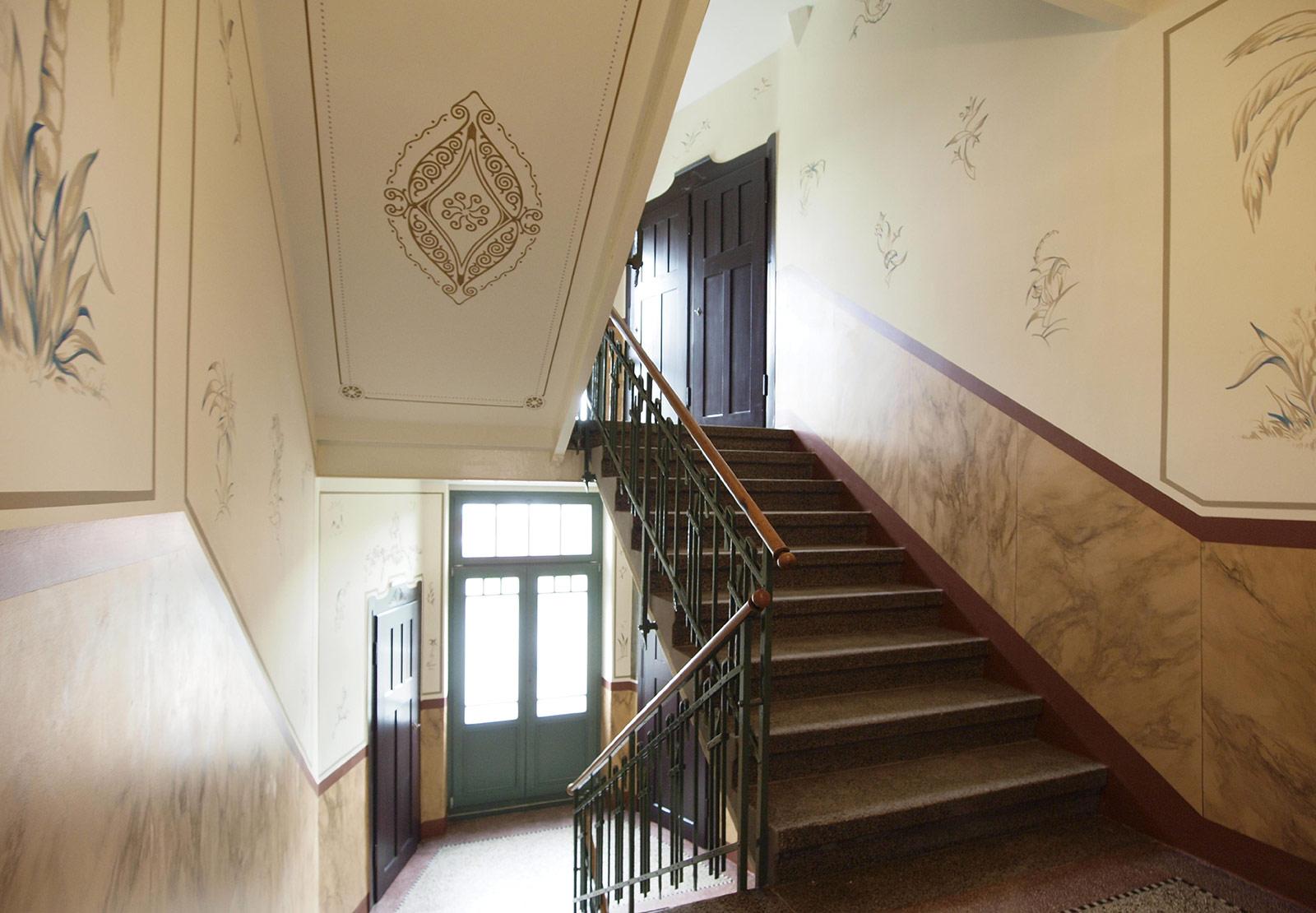 jugendstil treppenhaus der restaurator fr historische. Black Bedroom Furniture Sets. Home Design Ideas